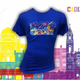 Camiseta Cádiz serpentinas